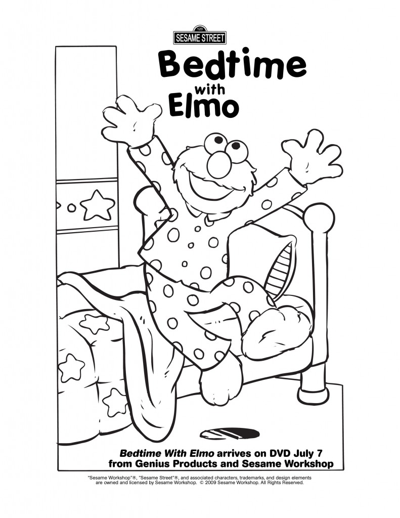 Elmo Potty Coloring Pages Bedtime With Elmo on Dvd