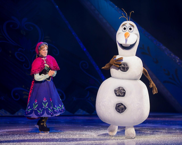 Anna and Olaf Disney On Ice Frozen