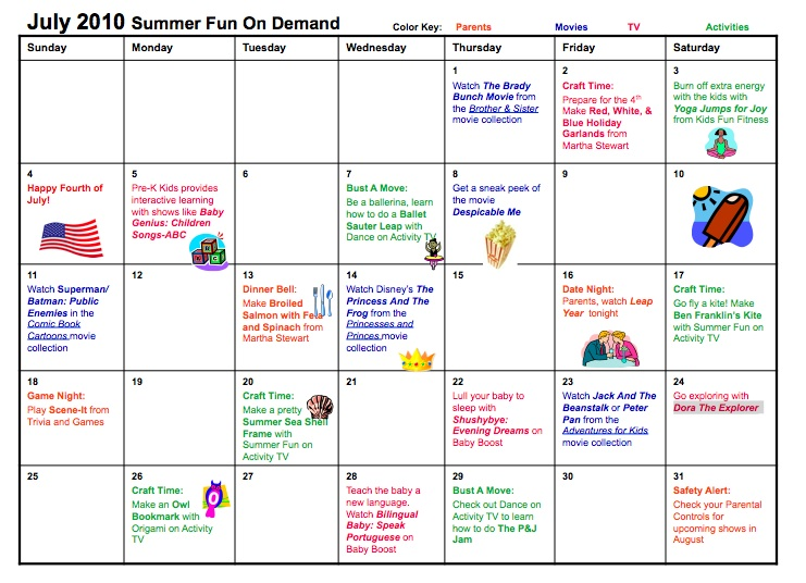 Safety Calendar Ideas : Entertainment savings and safety with comcast