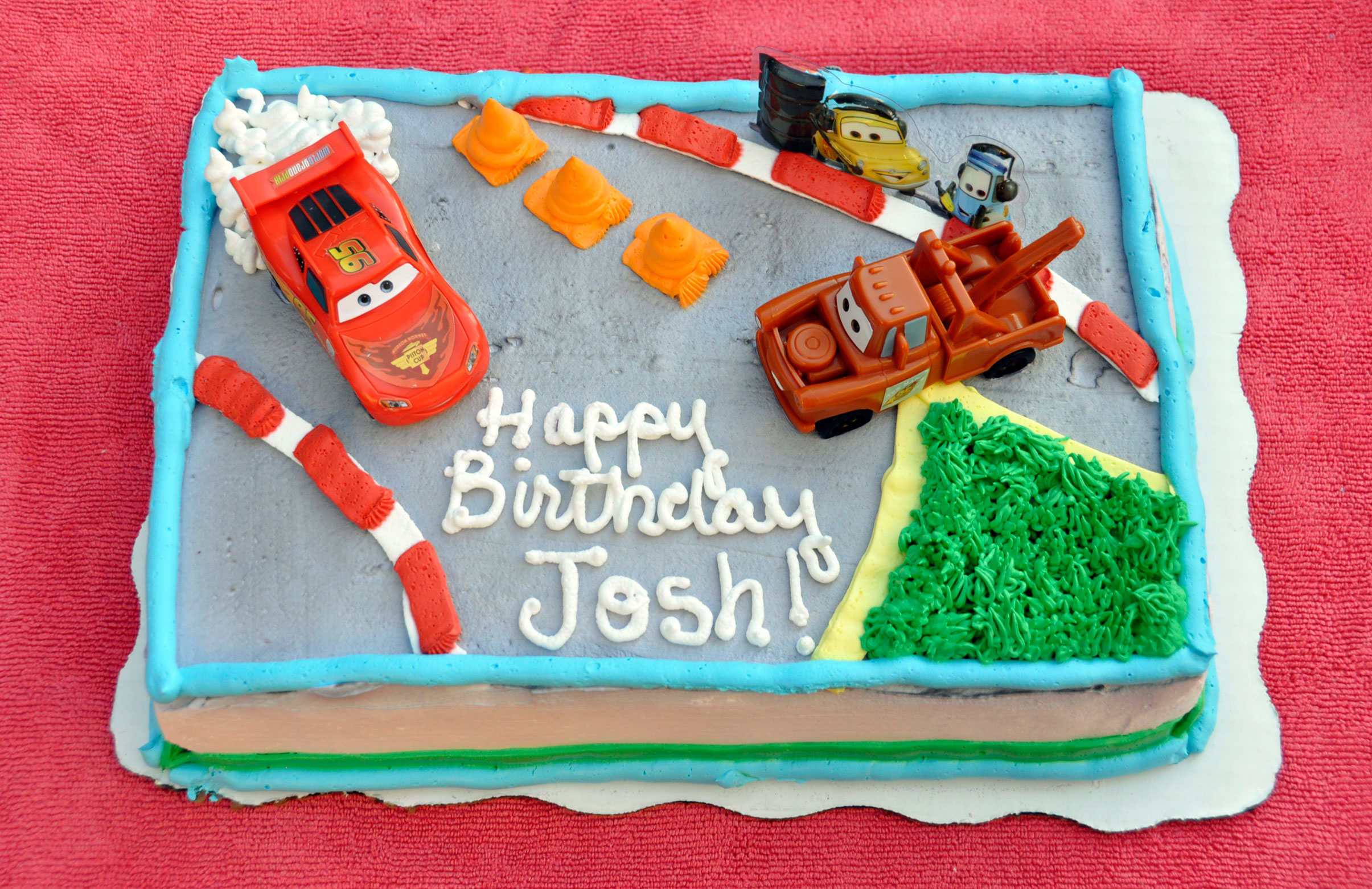 Strange Pixar Cars Themed Custom Cake Personalised Birthday Cards Paralily Jamesorg