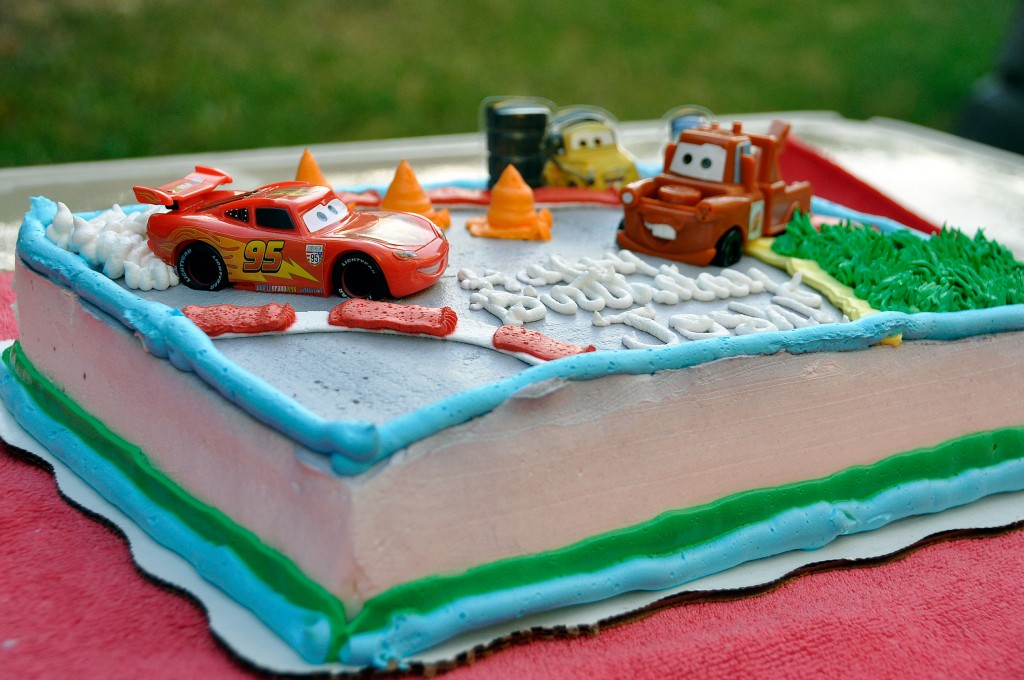 Pixar Cars Themed Custom Cake