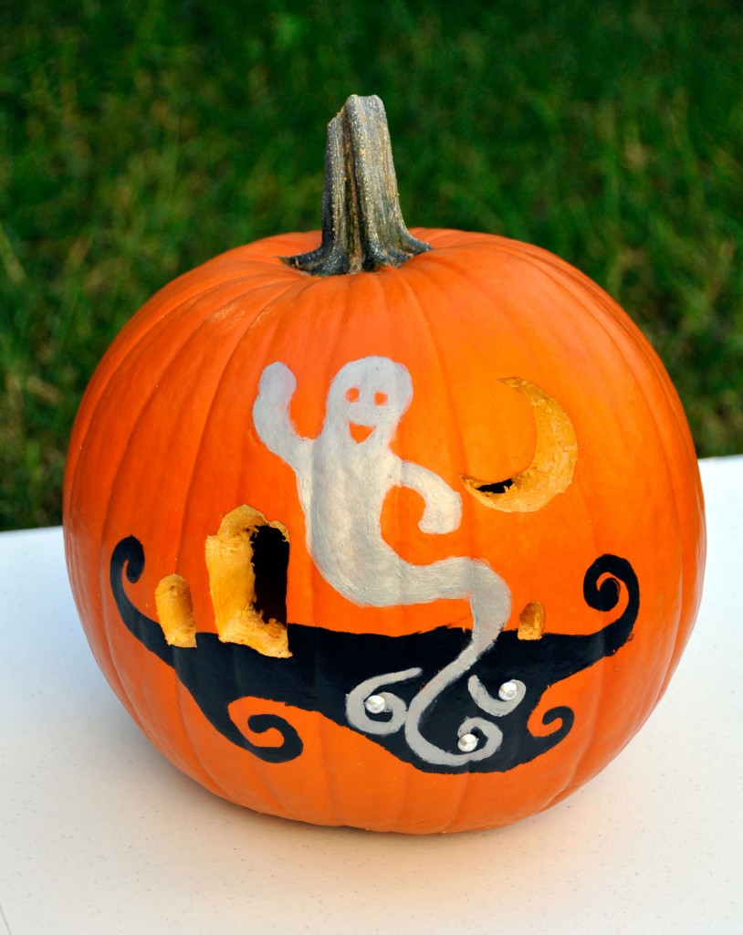 How to carve and paint a pumpkin Easy pumpkin painting patterns