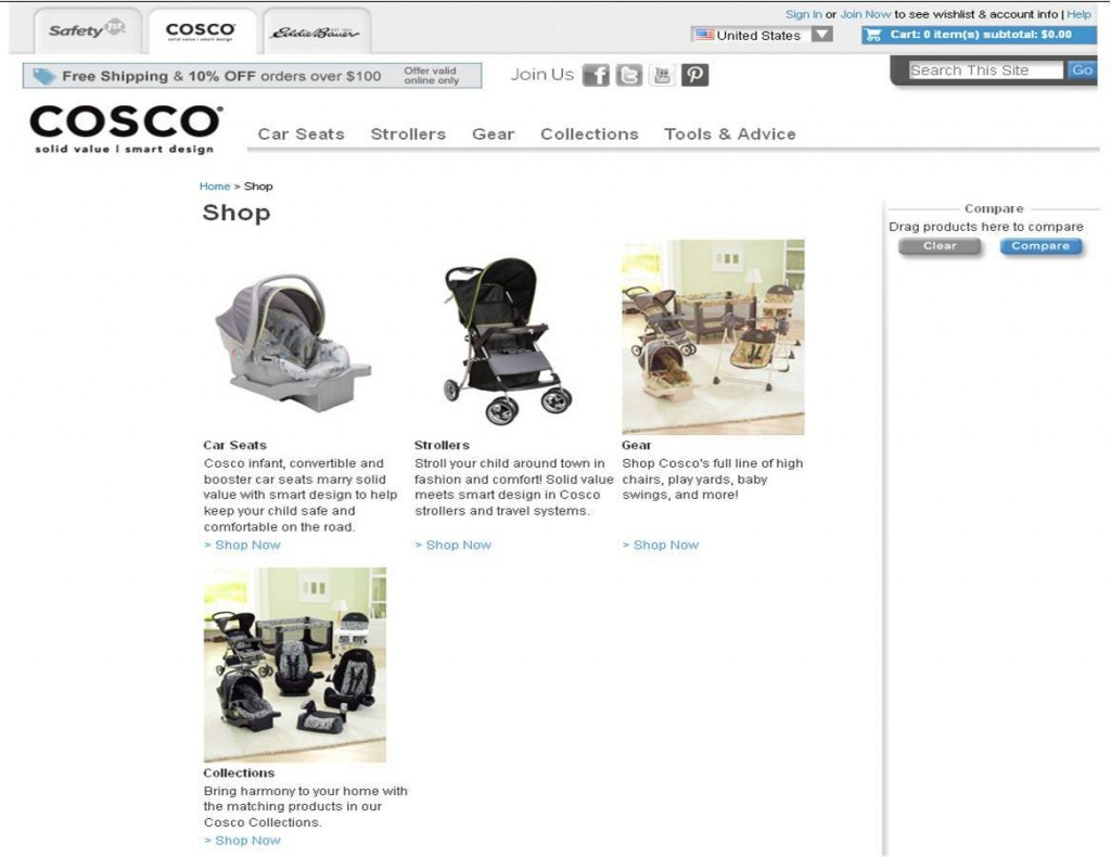 Cosco Product Page