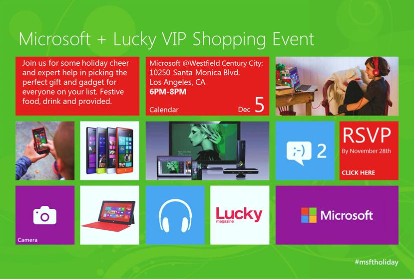 Microsoft & Lucky Magazine VIP Shopping Event