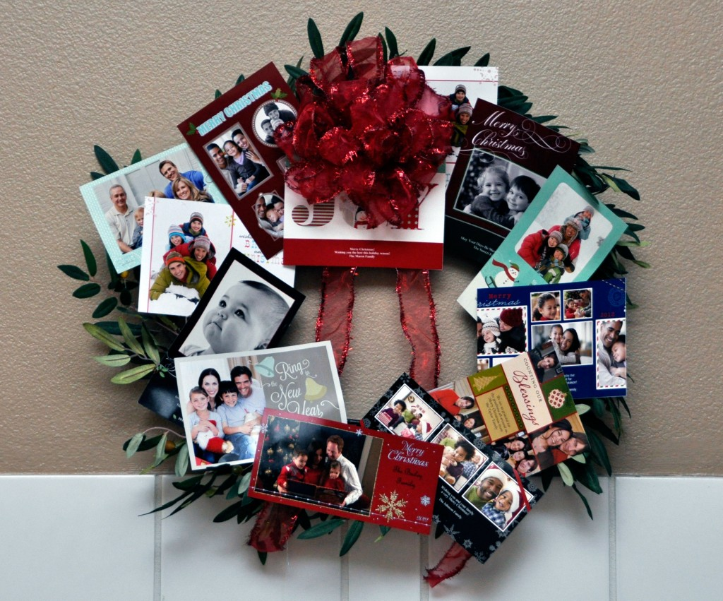 Photo Greeting Card Wreath