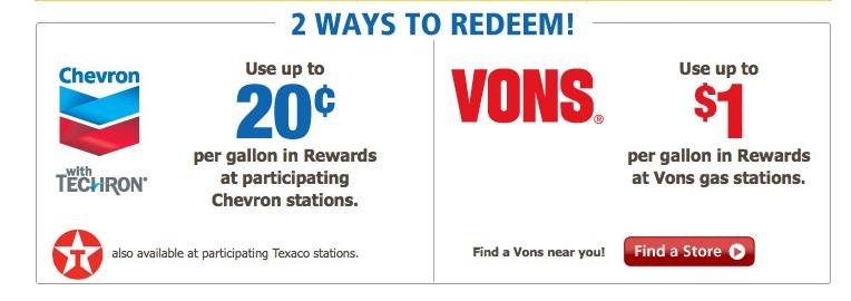 Vons Fuel Rewards