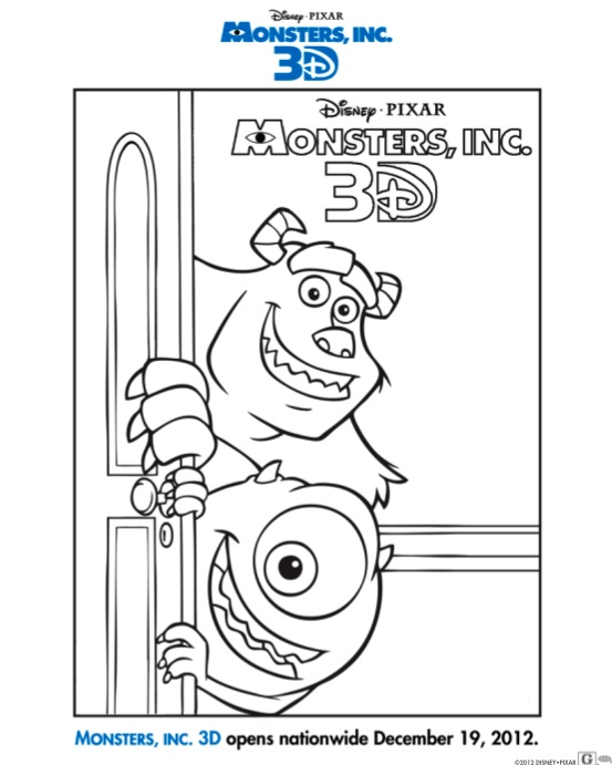 Monsters, Inc Coloring Page