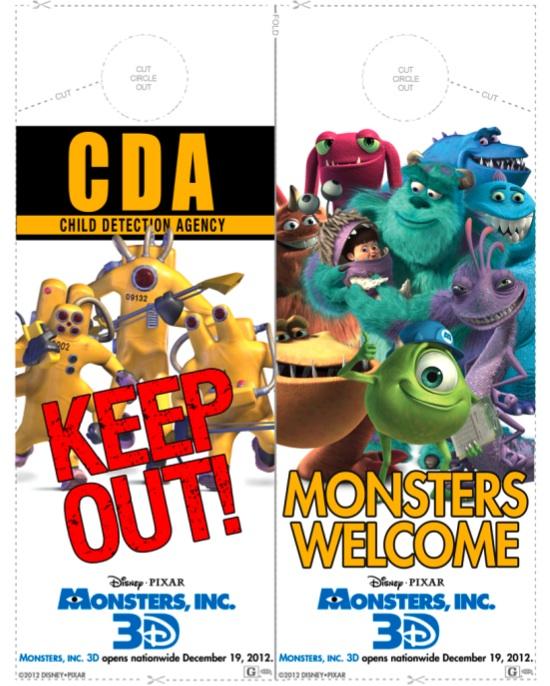 Monsters, Inc Door Hanger