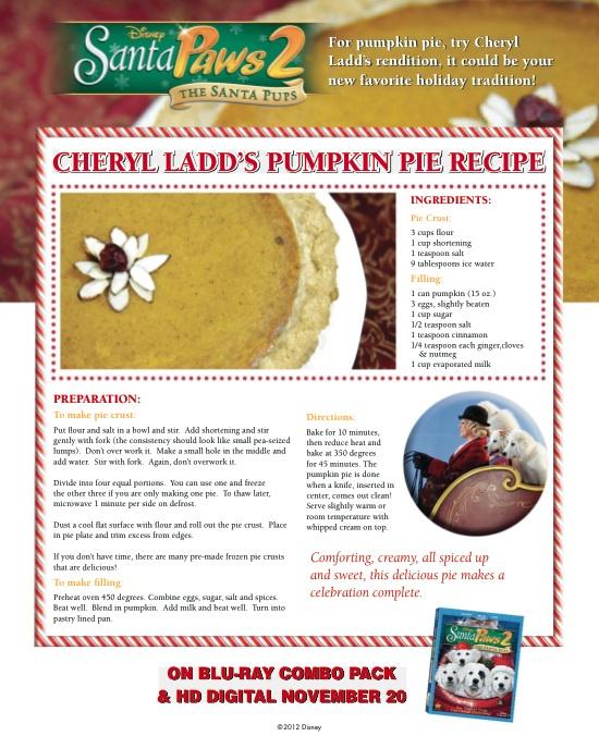 Recipe for Pumpkin Pie