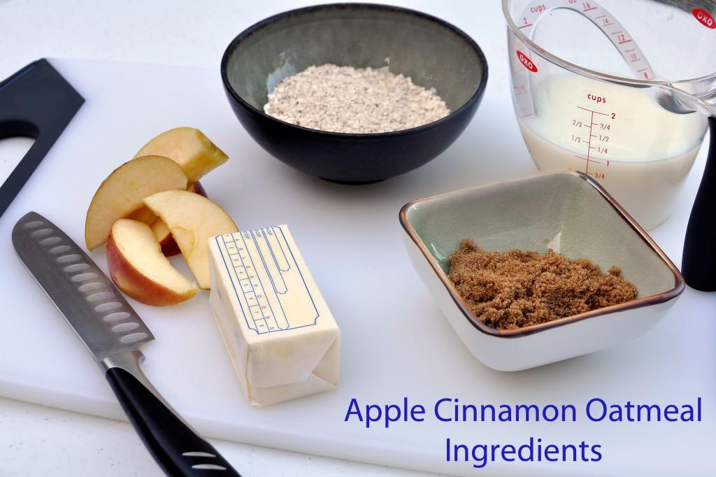 Apple Cinnamon Oatmeal Ingredients