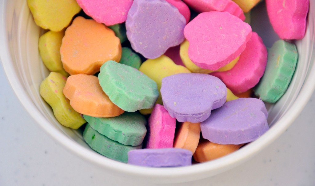 Blank Candy Conversation Hearts