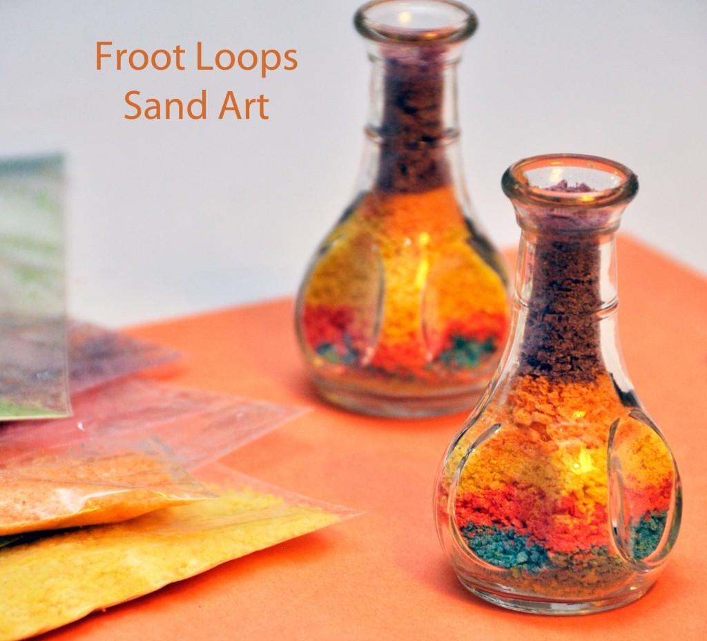 Froot Loops Sand Art