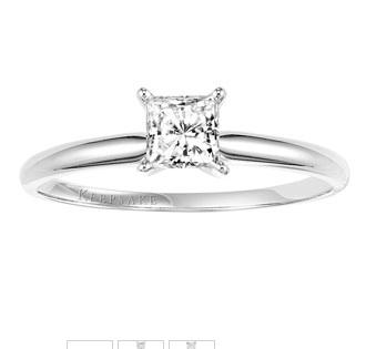 Keepsake Everlasting Princess Cut Diamond Ring