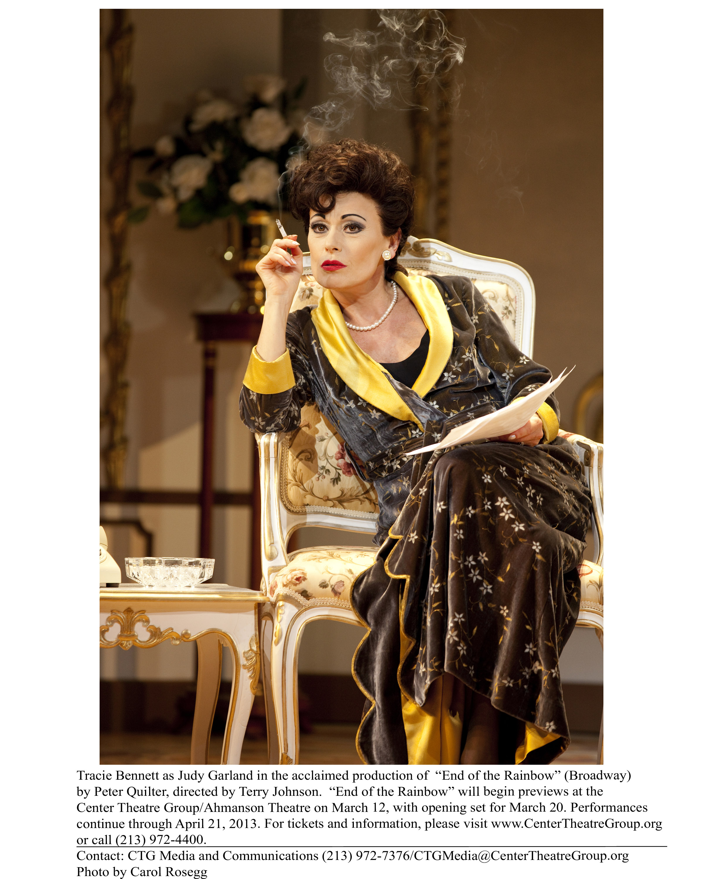 Tracie Bennett as Judy Garland in End of the Rainbow