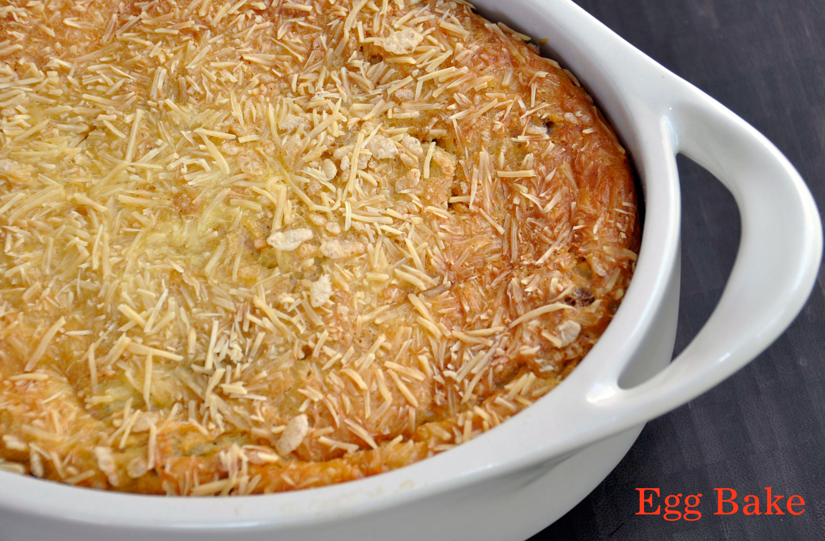 Recipe:  Easy Vegetarian Egg Bake