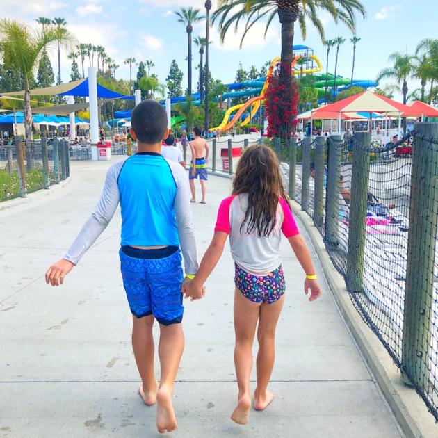 Siblings at Water Park