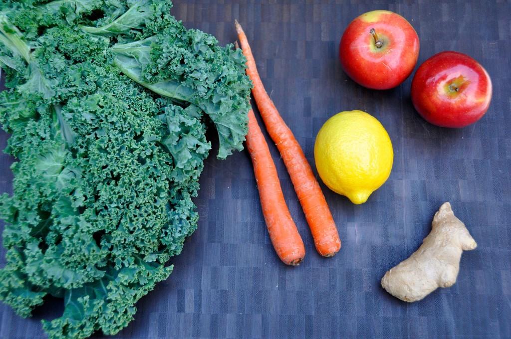 Kale, Carrot & Apple Juice Ingredients