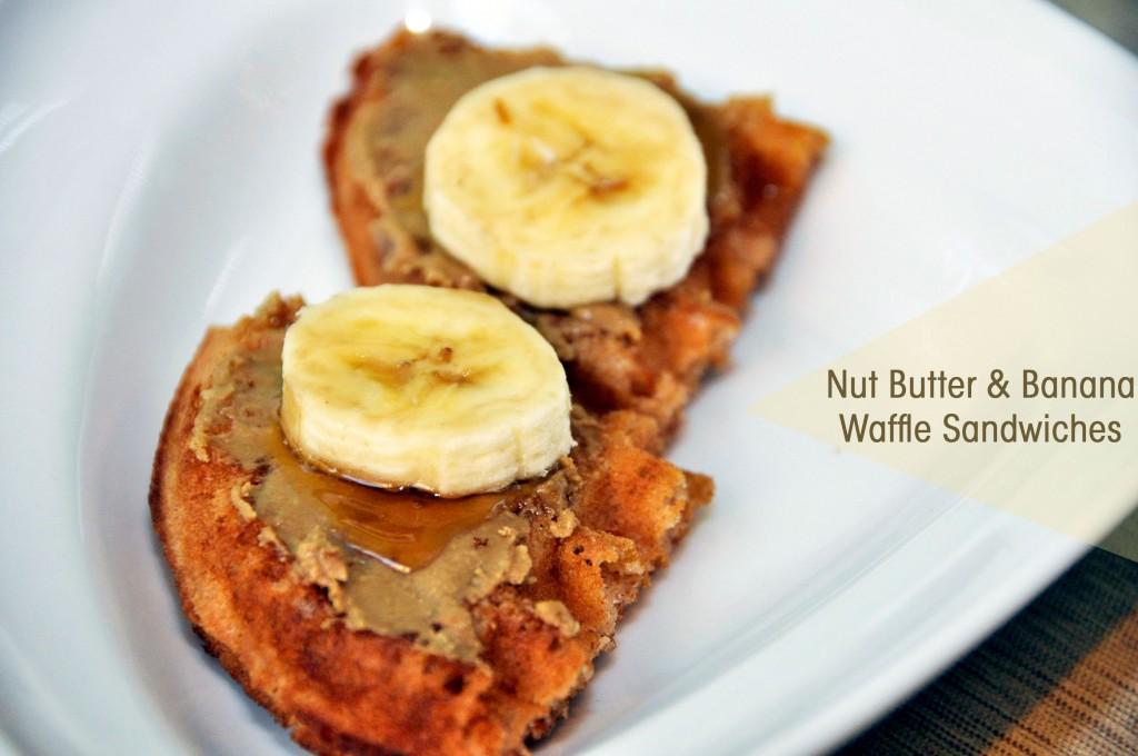 Nut Butter & Banana Waffle Sandwiches