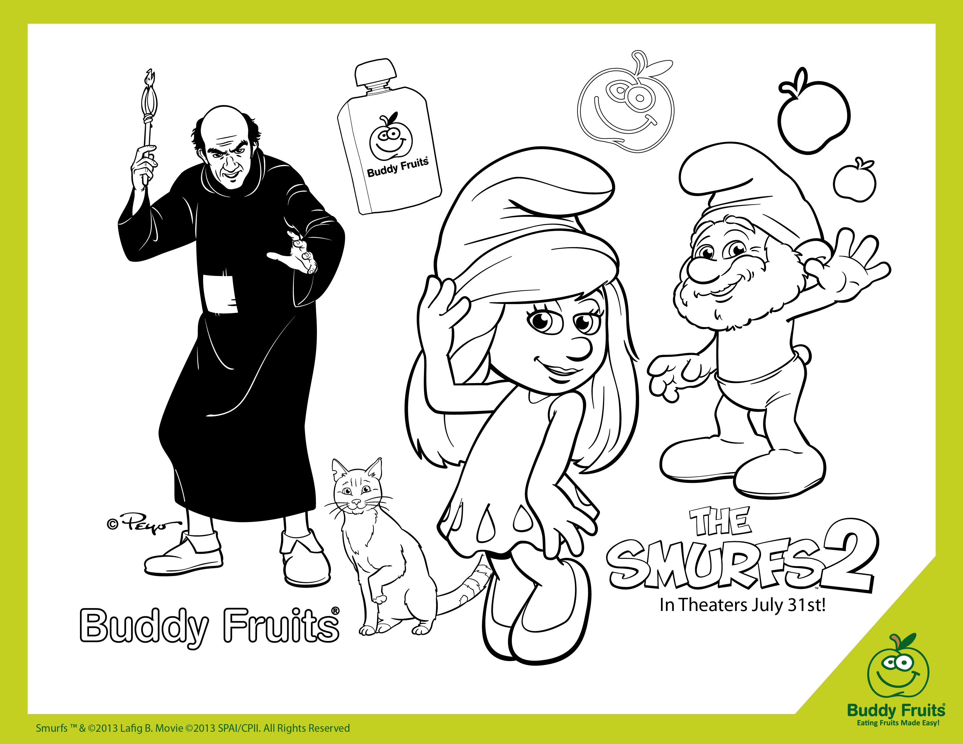 smurfs coloring pages games free - photo#11