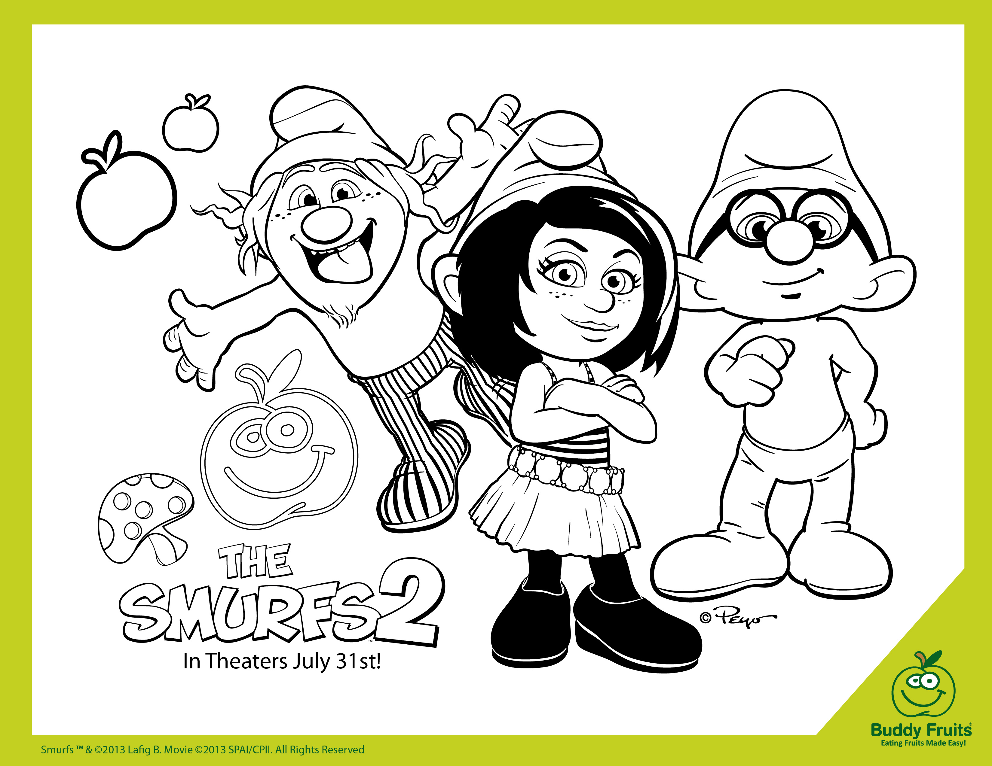 hackus smurf coloring pages - photo#40