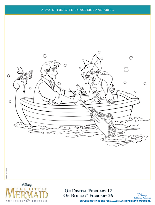 Prince Eric and Ariel Coloring Sheet