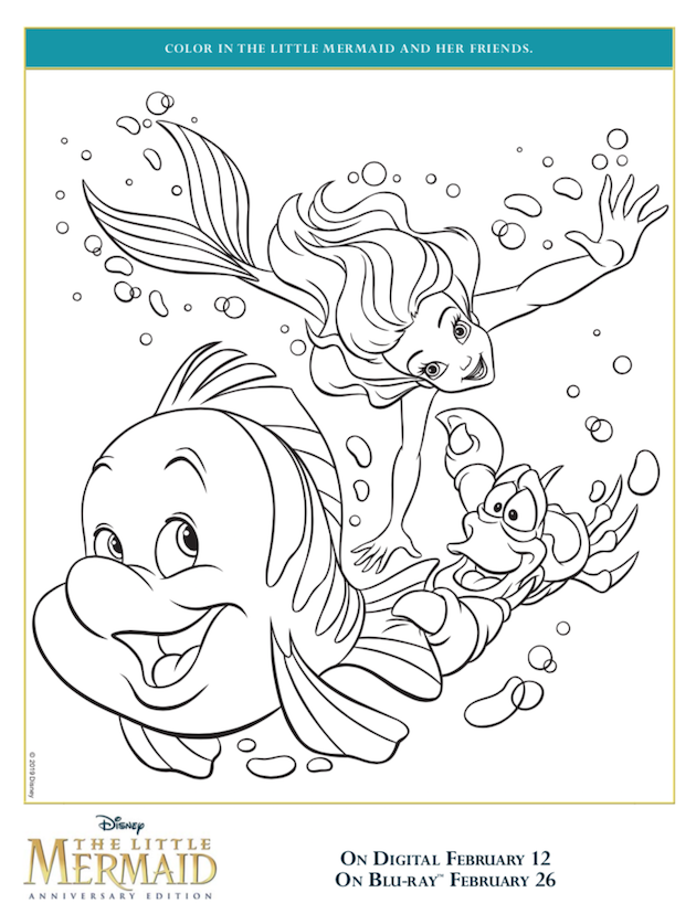 The Little Mermaid Coloring Sheet