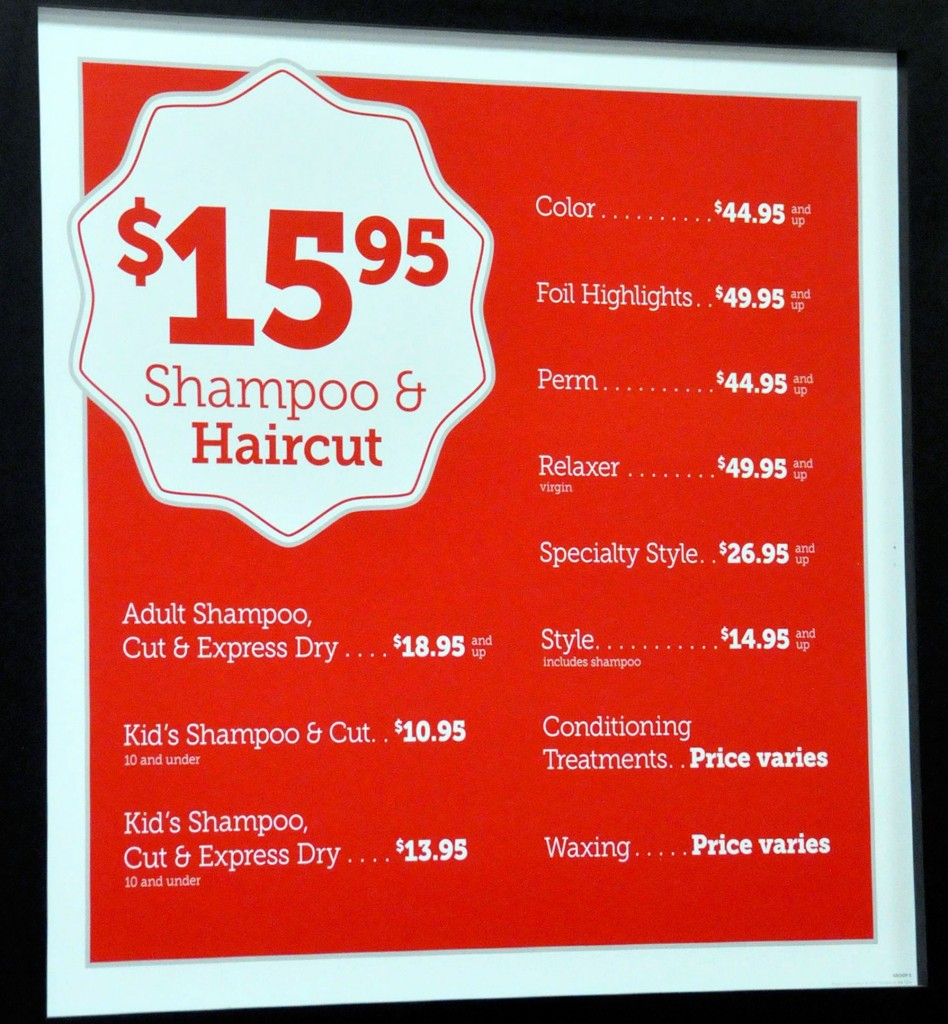 how much do haircuts cost at walmart hair style prices hair color and styles for medium 3562