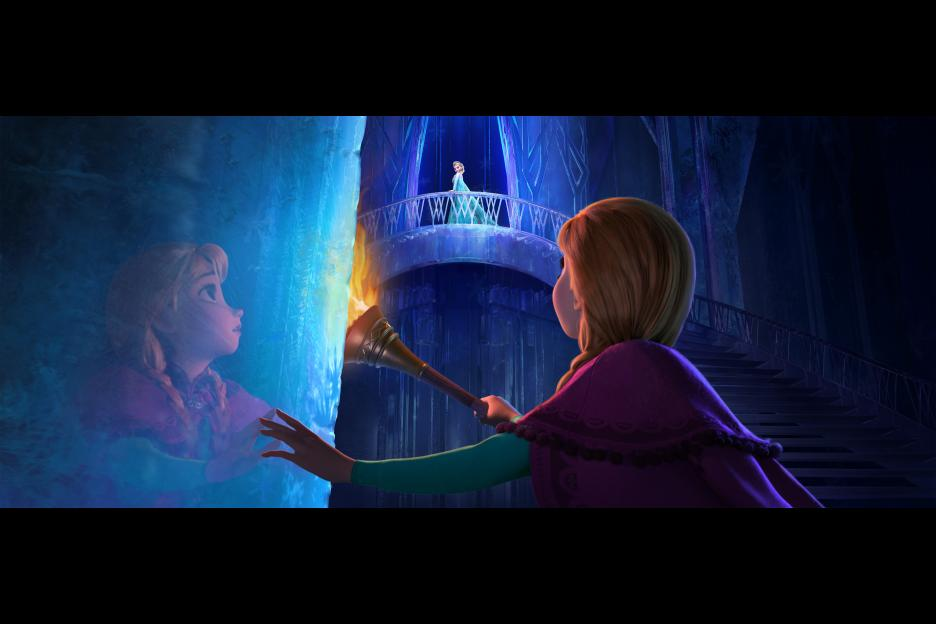 Anna and Elsa in Disney's Frozen
