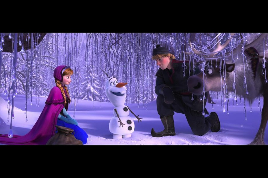 my shining role as olaf in disney's frozen