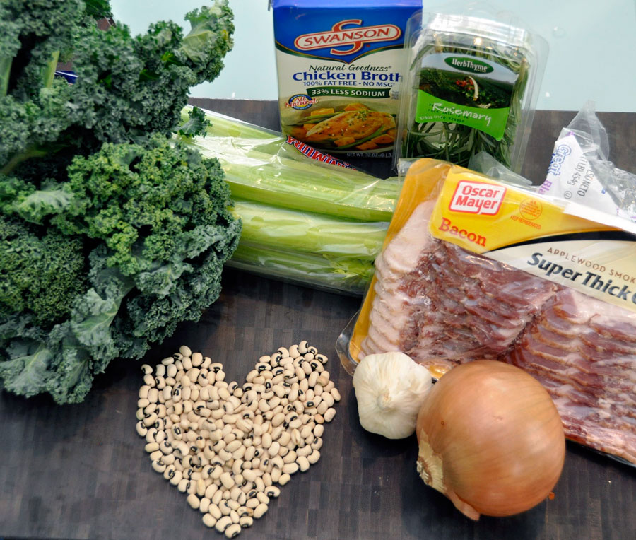 Black-Eyed Pea and Kale Soup Ingredients