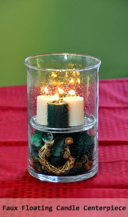 Diy Faux Floating Candle Centerpiece