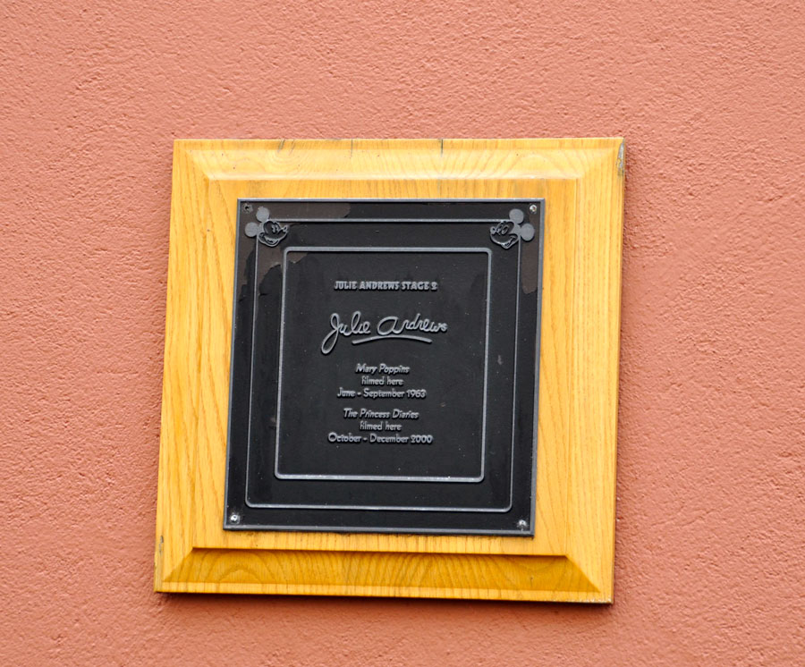 Julie Andrews Plaque at Walt Disney Studios