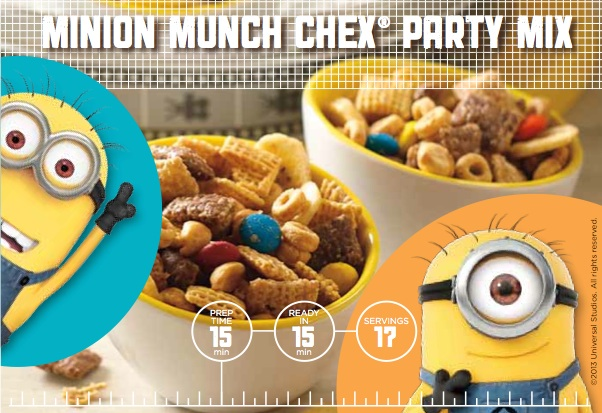 Minion Munch Chex Party Mix