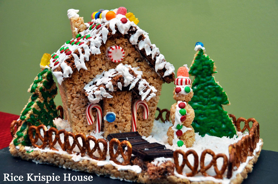 How to Make a Rice Krispie Holiday House