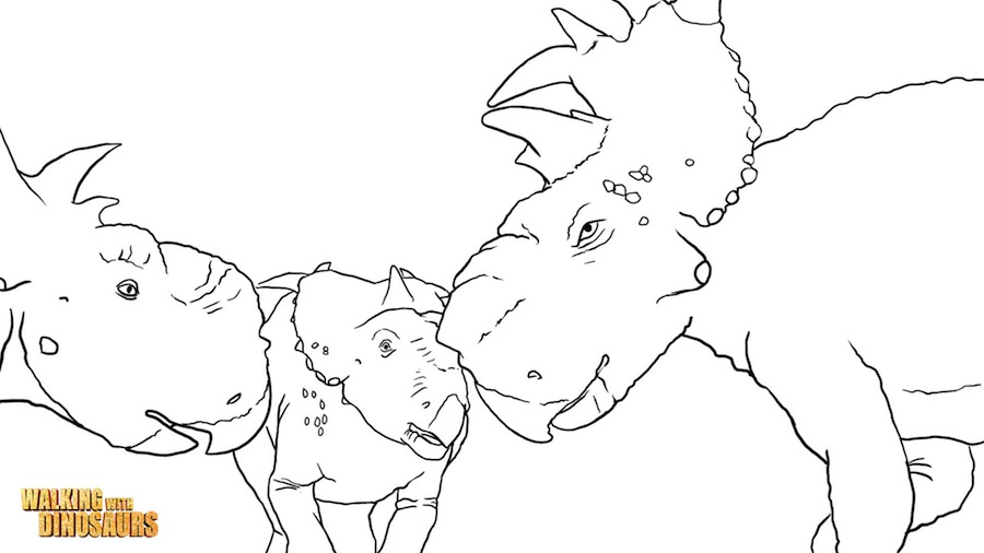 walking with dinosaurs coloring pages - photo #15