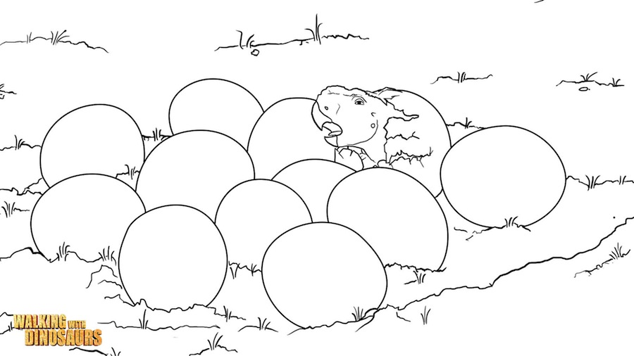 walking with dinosaurs coloring pages - photo #25