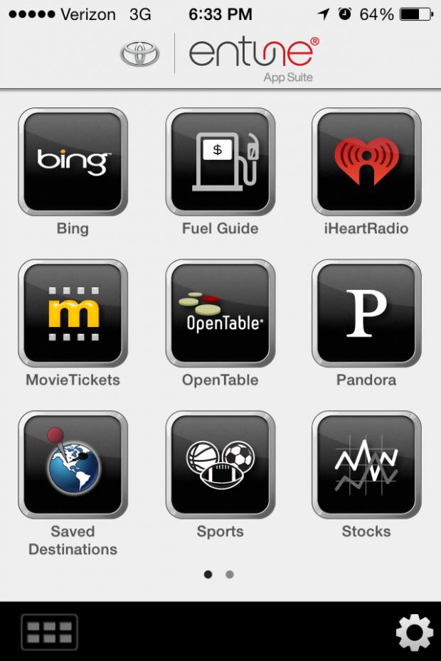 Entune App Suite