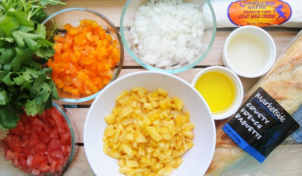 Peach Bruschetta Ingredients