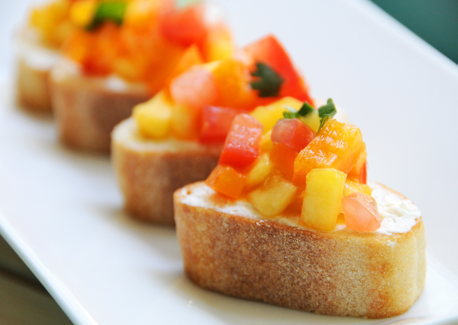 Peach Bruschetta Recipe