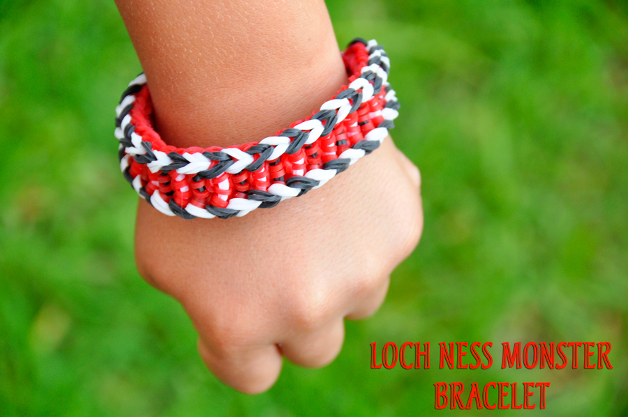 Monster Tail By Rainbow Loom Loch Ness Monster Bracelet