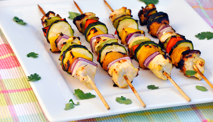 Mango Chicken Skewers Recipe