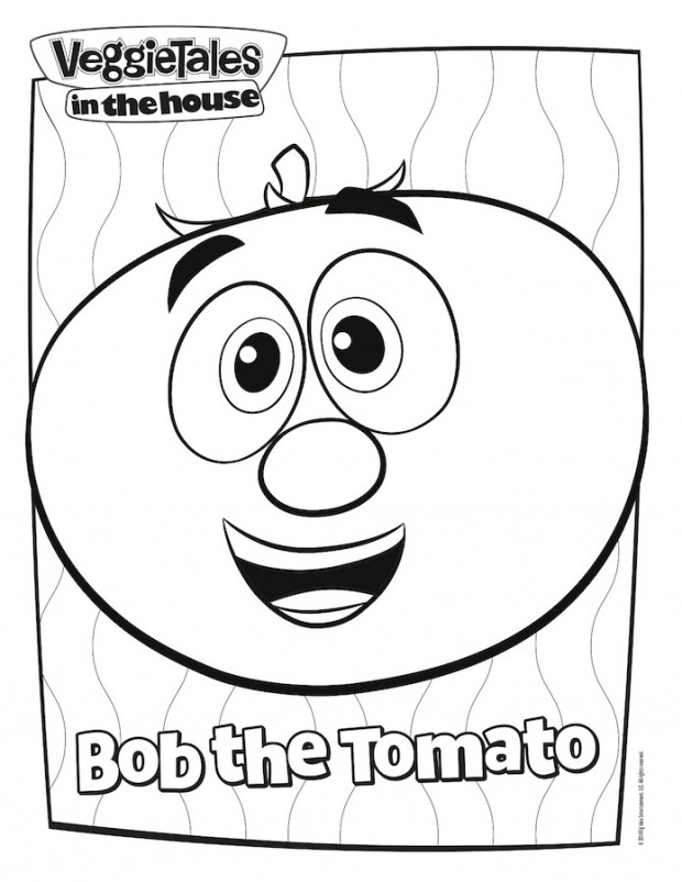 Veggietales in the house premieres on netflix free for Free veggie tales coloring pages