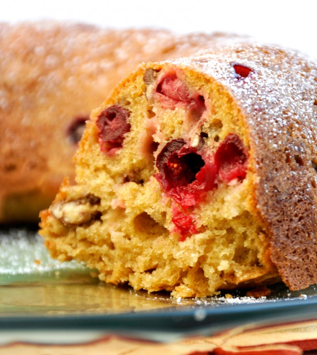 Cranberry Sour Cream Pound Cake