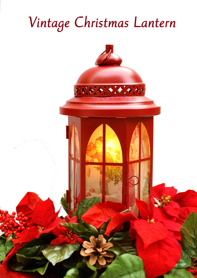 DIY Vintage Christmas Lantern