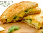 Cheddar, Apple and Fig Grilled Cheese