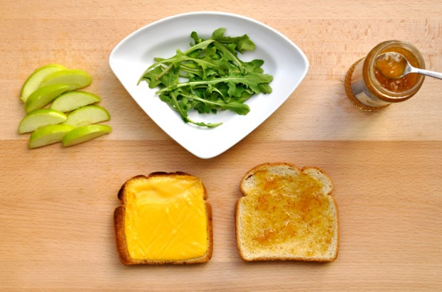 Ingredients for Gourmet Grilled Cheese