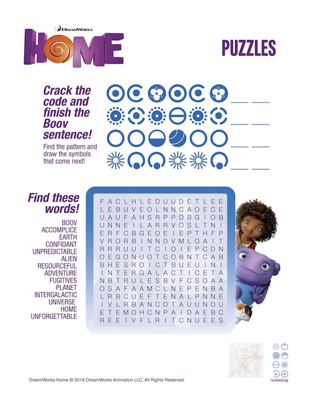HOME Word Search