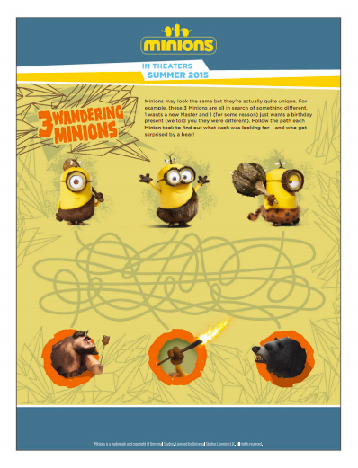 Minions Activity Page