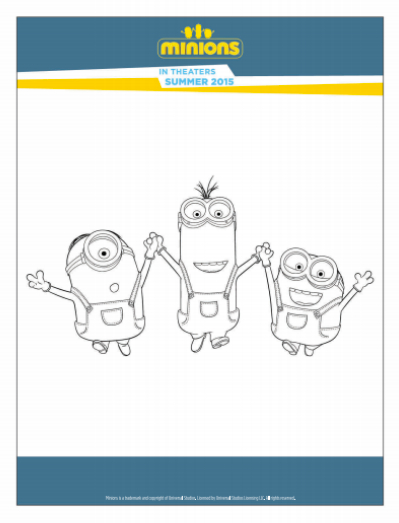 Minions Free Printable Activities and Coloring Pages Showing Our
