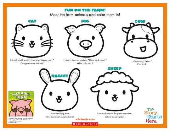 Peek-A-Boo Farm Activity Sheet